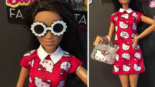 Kit Vestido Roupa Barbie Hello Kitty Original Oficial Mattel