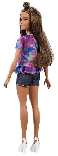 Boneca Barbie Fashionista 112 Morena Camisa Hello Top 2019