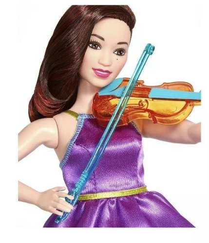 Boneca Barbie Violinista Curvy Rockers Articulada Original