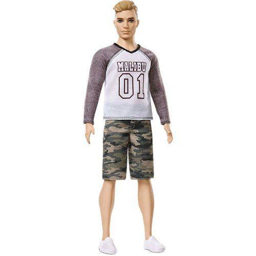 Boneco Ken Barbie Fashionista 8 Loiro Malibu Top Raro