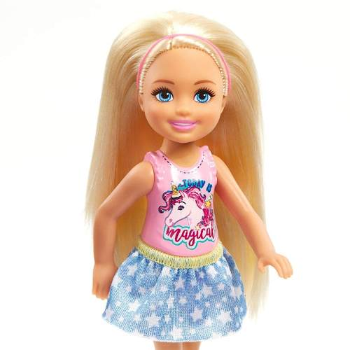 Boneca Barbie Club Chelsea 2019 Criança Loira Unicórnio Top