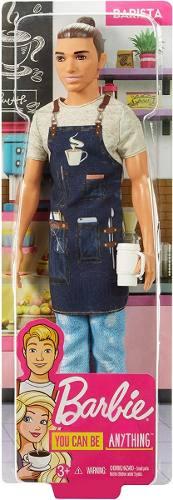 Boneco Barbie Ken Fashionista Profissões Barista Top 2019
