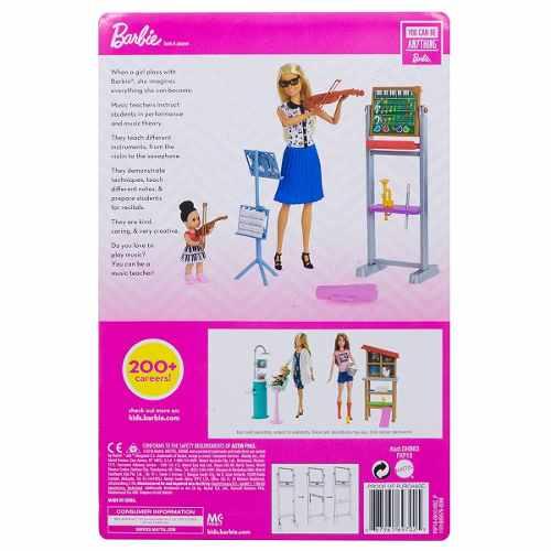 Boneca Barbie Professora De Música Violino Loira Top 2019