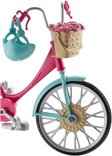 Bicicleta P/ Boneca Barbie Dreamhouse Adventures Mattel 2019