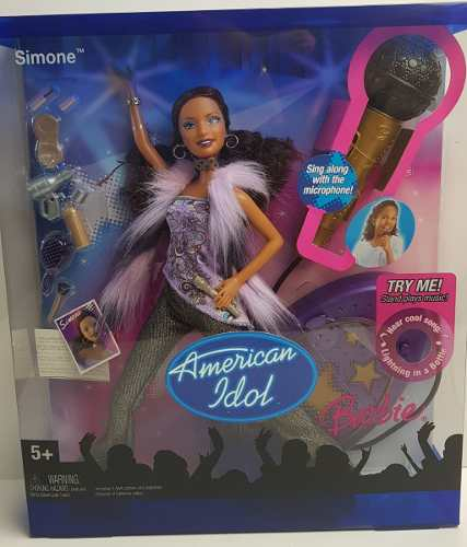 Boneca Barbie American Idol Simone Com Karaokê Música Top