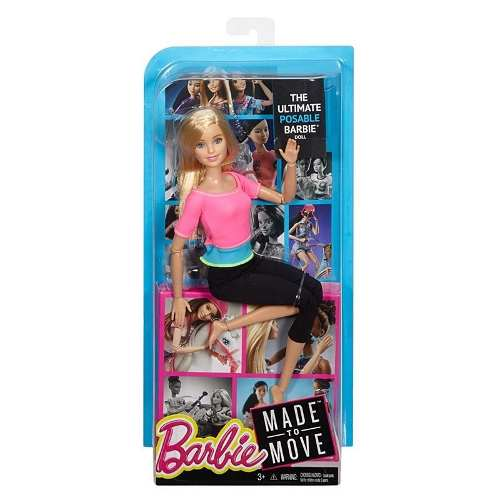 Boneca Barbie Articulada Loira Rosa Pink Top Made To Move