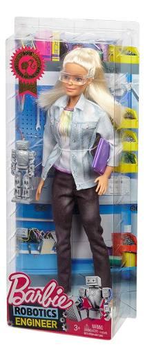 Boneca Barbie Engenheira Robótica Loira Profissão Ano 2019