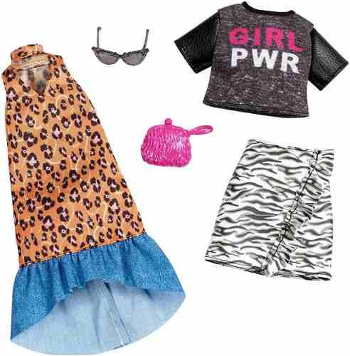 Roupa Para Barbie Fashion Girl Power Óculos Mattel Original