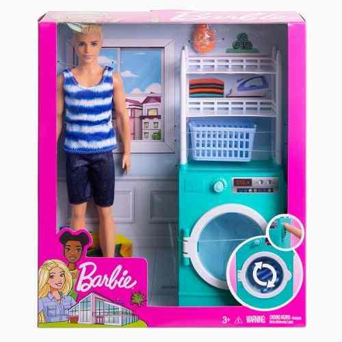 Novo Boneco Ken Barbie Loiro Lavanderia Playset Top 2019