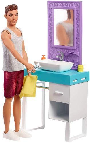 Novo Boneco Ken Barbie Barbear E Banheiro Top 2019