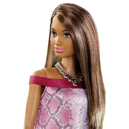 Boneca Barbie Fashionista 21 Negra Pretty In Python Nikki