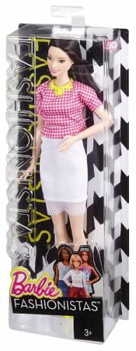 Boneca Barbie Fashionista 30 Alta Cabelo Preto Saia Social