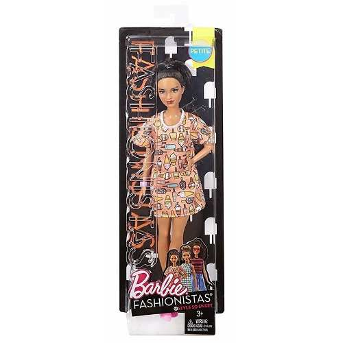Boneca Barbie Fashionista 56 Style So Sweet Cabelo Longo Rar