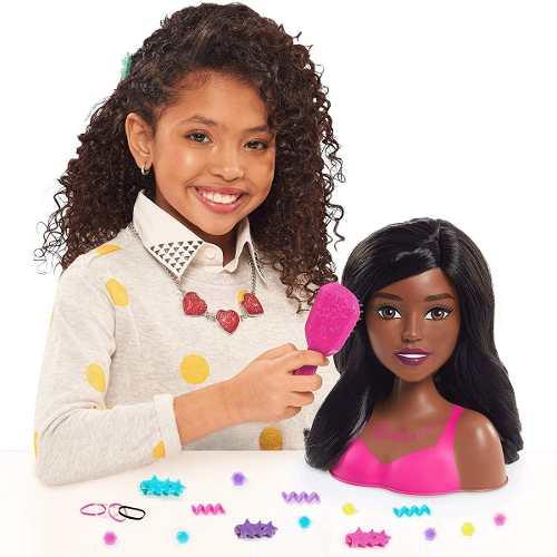 Cabeça Da Boneca Barbie Para Pentear Negra Presente 2019 Top