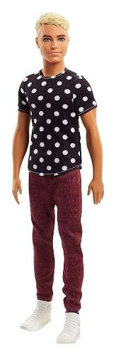 Boneco Ken Barbie Fashionista 14 Black & White Loiro Raro
