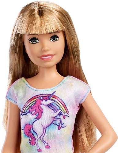 Boneca Barbie Skipper Babysitters Loira Unicórnio Babá 2019