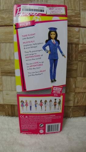 Boneca Barbie Profissões Piloto De Avião Branca Top 2019