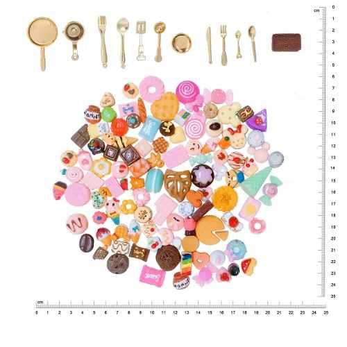 120 Miniaturas Sobremesas Panelas Cozinha P/ Boneca Barbie