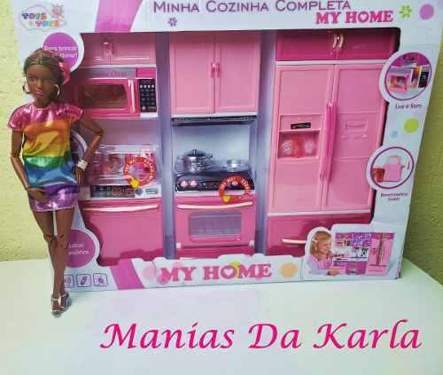 Cozinha Casa Da Barbie Com Luz Som Acessórios Top 2019
