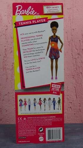Boneca Barbie Negra Jogadora Tênis Morena Tenista Linda Top
