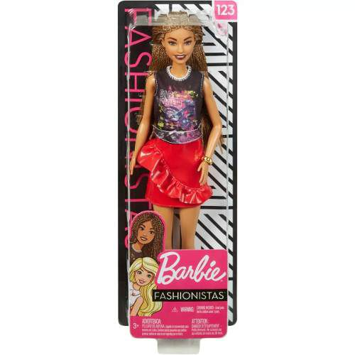 Boneca Barbie Fashionista 123 Girl Power Afro Rara 2019