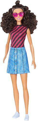 Boneca Barbie Fashionista 55 Denim E Dazzle Alta Top Rara