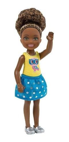 Boneca Filha Barbie Clube Chelsea Brunette Criança Negra Top