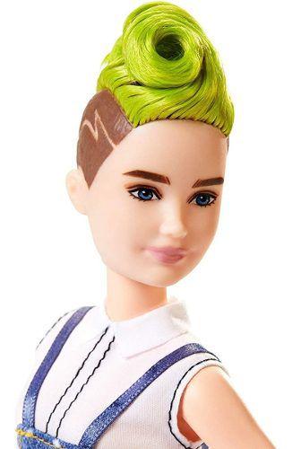 Boneca Barbie Fashionista 124  Moicano Verde Nova 2019