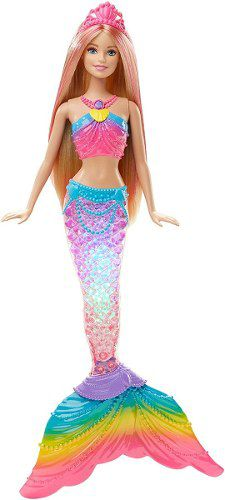 Boneca Barbie Dreamtopia Loira Sereia Do Arco-iris Com Luzes