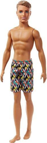 Boneco Ken Barbie Water Play Praia Surfista Shorts Triângulo