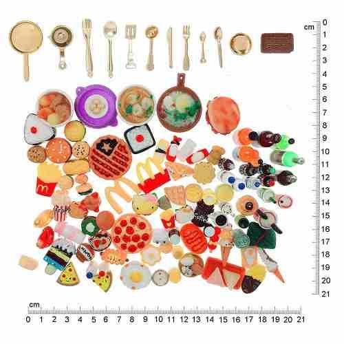 110 Miniaturas Comida Panelas Cozinha P/ Boneca Barbie Top