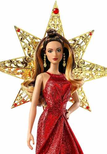 Boneca Barbie Collector 2017 Holiday Morena Coque Linda