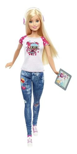 Boneca Barbie Video Game Hero Loira Personagem Pixel