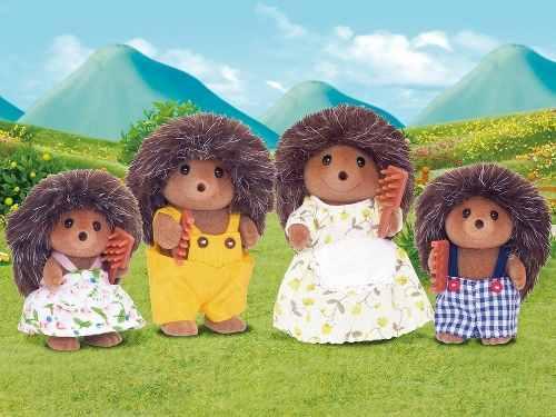 Sylvanian Families Familia Dos Ouriços Pickleweeds Epoch Eua