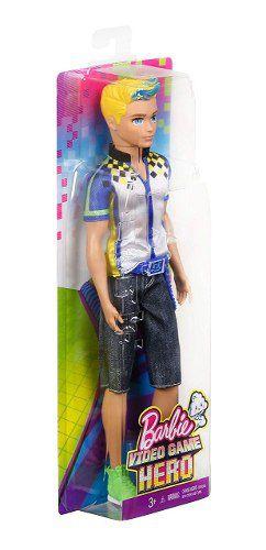 Boneco Ken Barbie Video Game Hero Loiro Com Cinto Top