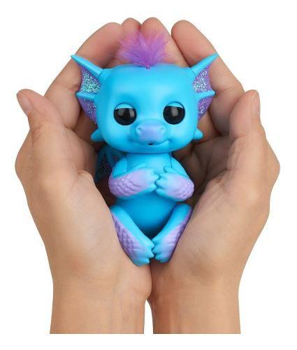 Agarradinho Fingerlings Dragão Brilhante Tara Pet Interativo
