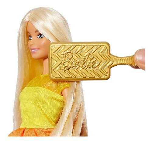 Boneca Barbie Ultimate Curls Loira Cabelo Liso Ou Cacheado