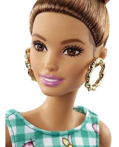 Boneca Barbie Fashionista 50 Emerald Check Xadrez Verde Rara