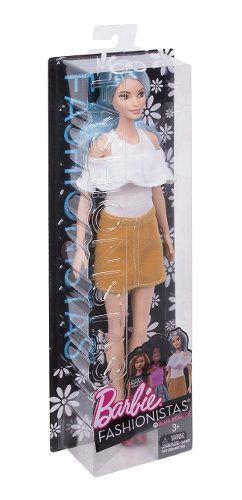 Boneca Barbie Fashionista 69 Blue Beauty Alta Cabelo Azul