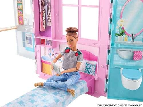 Casa Da Barbie Charmosa Que Vira Maleta Com Piscina | Mattel