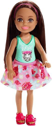 Boneca Barbie Clube Chelsea Tigre Criança Morena Top