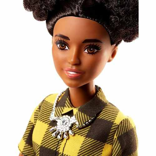 Boneca Barbie Fashionista 80 Negra Cheerful Check Xadrez
