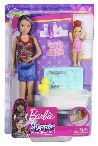 Boneca Barbie Skipper Babysitters Com Banheira E Bebê 2019