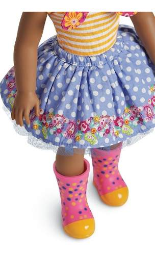 Boneca Reborn American Girl Negra Kendall Welliewishers 37cm