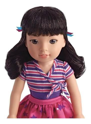 Boneca Reborn American Girl Emerson Japa Welliewishers 37cm