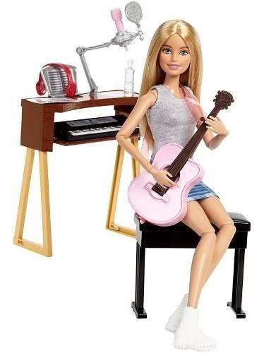 Boneca Barbie Articulada Cantora Musica Loira Violão Piano