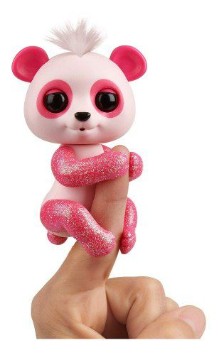 Agarradinho Fingerlings Panda Polly Rosa Brilhante