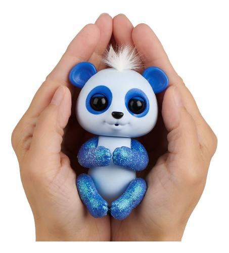 Agarradinho Fingerlings Panda Archie Azul Brilhante