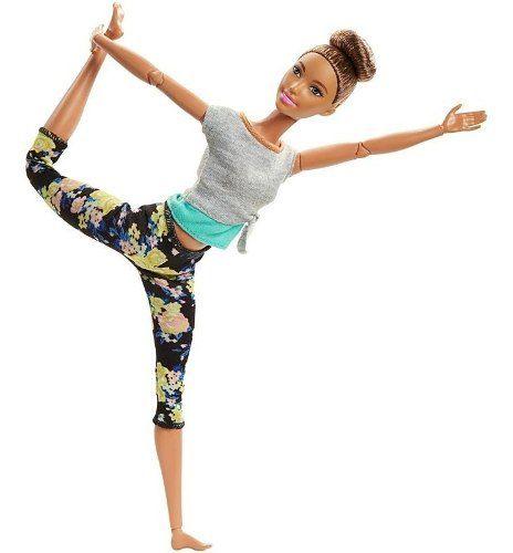 Boneca Barbie Made To Move Articulada Morena Yoga Coque Top