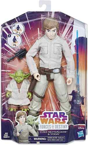 Bonecos Star Wars Forces Of Destiny Luke Skywalker E Yoda